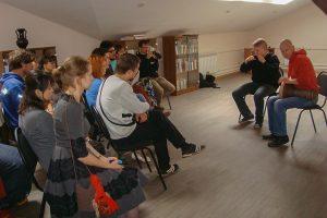 Занятия творческого молодежного объединения «Квадратъ»